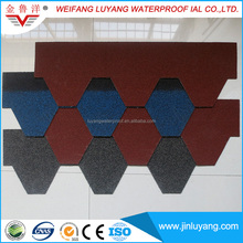 cheap colorful asphalt shingle for hip roof