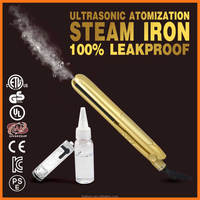 US EU Ultrasonic professional led steam hair straightener with Floating Ceramic Plates & keratin/argan vapor Treatment Flat Iro