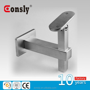 Stainless steel wire railing fittings/wall mounted round adjustable metal handrail support with 90 degrees