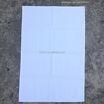 100% cotton plain dyed canvas 50x70 CM off white blank dish towel kitchen towel for screen printing