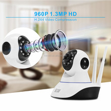 960P wifi real-time ip security cctv camera monitoring system