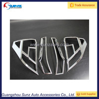 Chrome Front Tail light Rear Light Lamp Cover Trim for Honda FIT JAZZ 2014 2015