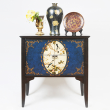 Impressive French Painted Blue Commode for Castle, Graceful Antique Handpainted Blue Chest Made of Solid Wood BF11-08311a