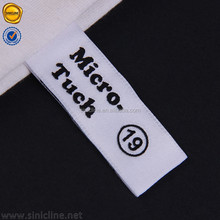Sinicline new arrival center fold woven label for clothing