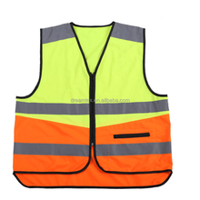 2017 Wholesale Safety Suit Knit Reflective Vest LED Print Letters