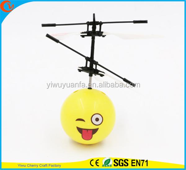 High Quality Interesting Mini Flying Ball Toy Emoji Cute Face Heli Ball