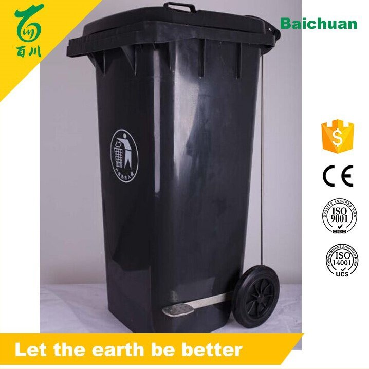 Plastic Outdoor 240L Recycling Foot Pedal Garbage Containers