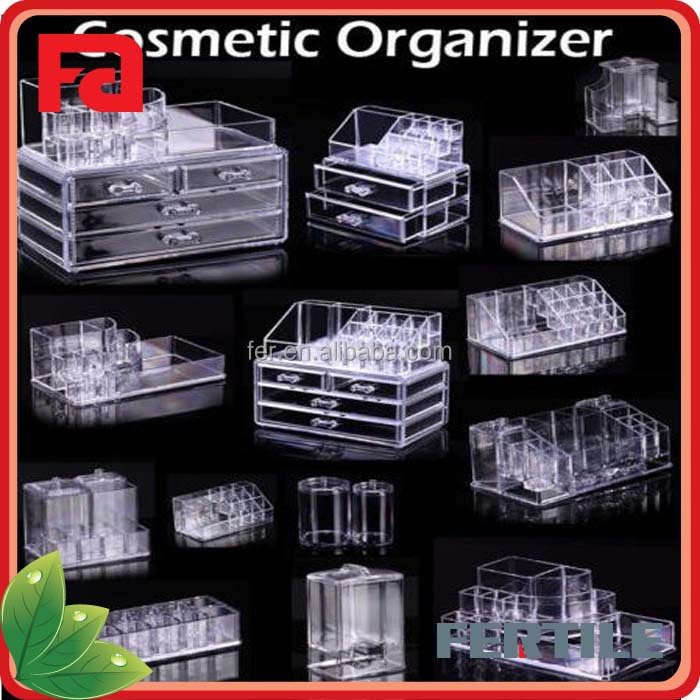 WFZ423230 Wholesale Clear 4 drawer acrylic makeup organizer