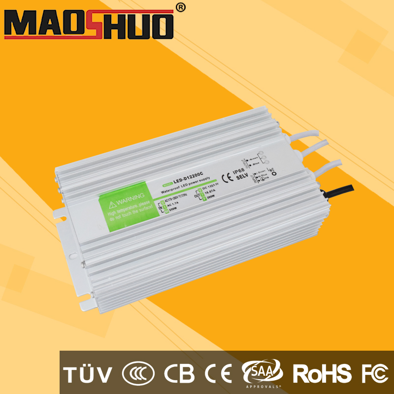 DC24V 300W led driver power supply water proof IP67 use for led lighitng