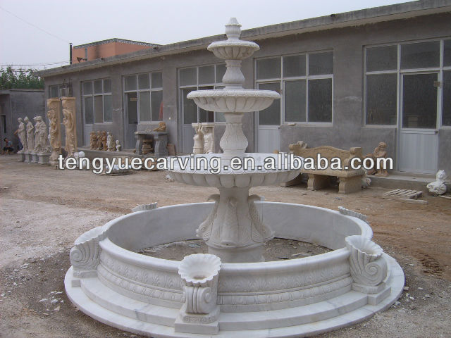 white marble outdoor stone garden fountain for sale