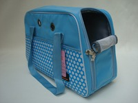 blue dog carrier bag