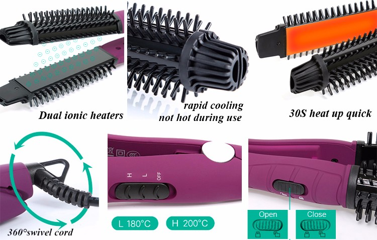 Professional Flat Iron 2 in 1 Electric Hair Straightner brush
