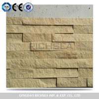 Beautiful Decoration Cheap Attrative Wall Deco Yellow Sandstone Cultural Stone