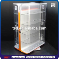 TSD-A293 custom retail countertop rotating lockable display case,show case display,lighter display stand