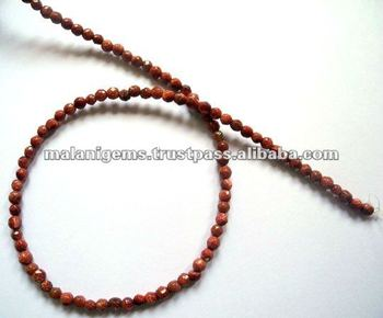 Brown Sandstone 4mm Roundel Facet Beads Calibrated Stone
