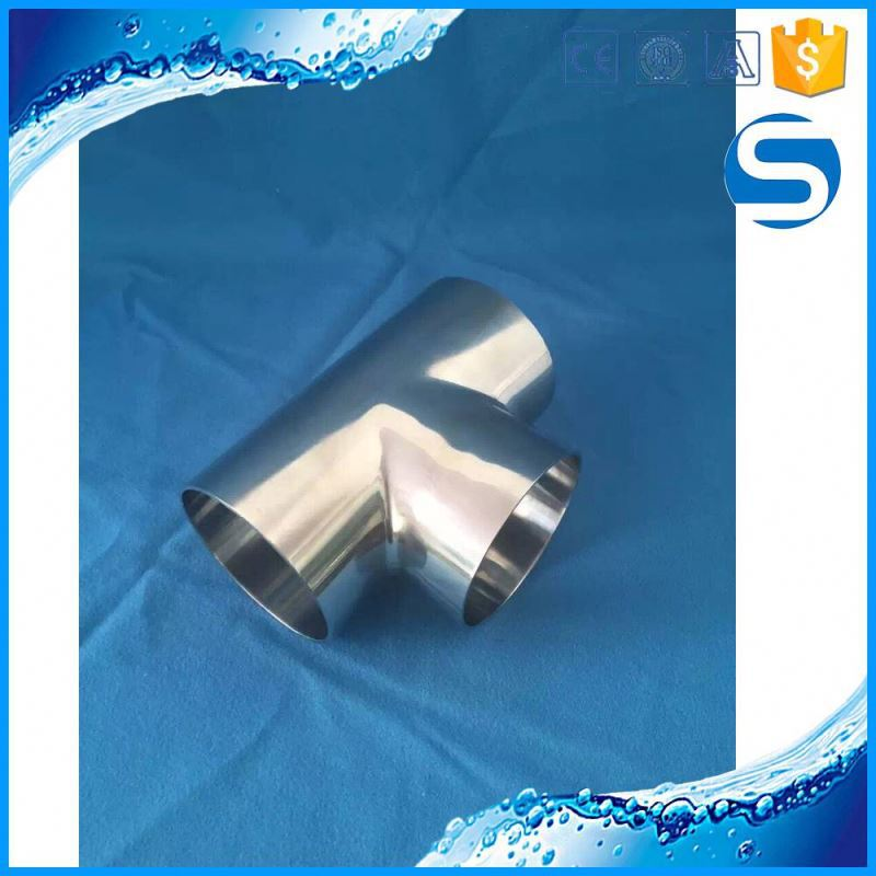 Custom Processing Sanitary Tee Stainless Steel Pipe Fitting Connectors