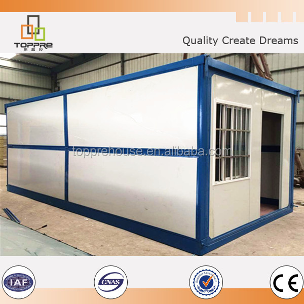 Low cost prefab folding container house