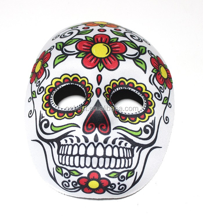 China supplier movie mask carnival accessories the day of the dead mask
