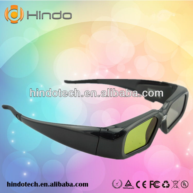 Gorgeous 3d glasses for promotional 96-144hz 3d glasses for dlp projector rechargeable 3d glasses watch movies