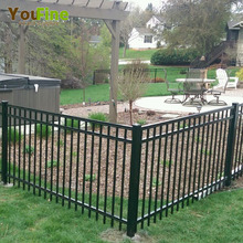 Backyard Wrought Iron Metal Fence