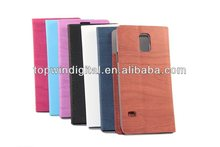 Durable Wooden Grain Flip Stand PU Leather Case For Samsung Galaxy S5 I9600 With Card Slot