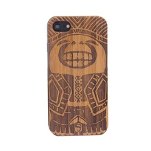 Diy phone case laser engraving bamboo wood tpu mobile phone case covers for iphone7 case