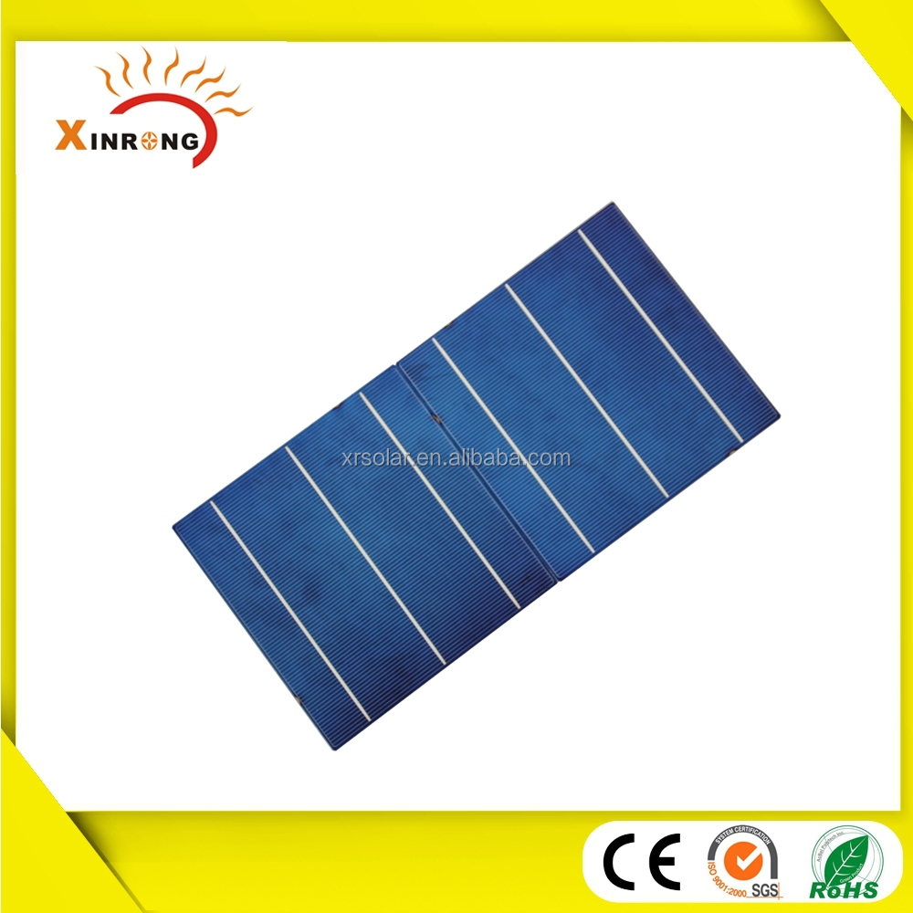 High Efficiency 156x156 Broken Solar Cells