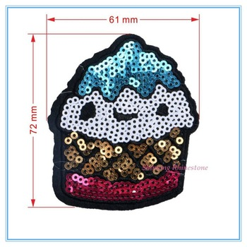 Cheap Wholesale Sequin Patches Iron On Sequin Patches For Garments