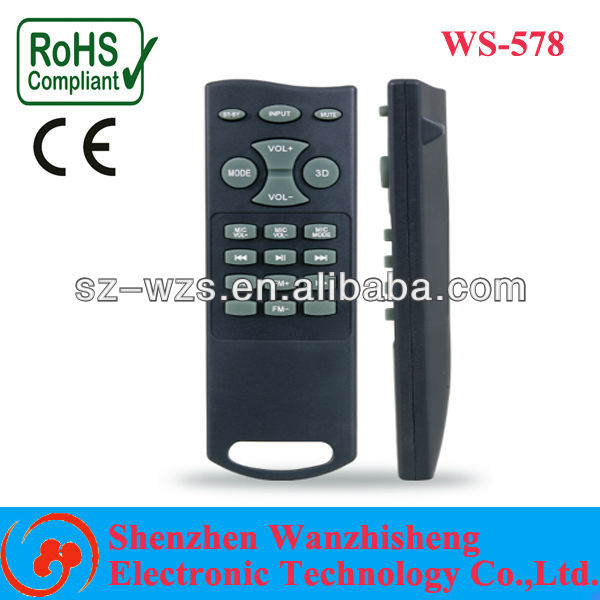 Middle-East, EU, Africa, South America-small and slim case with less buttons TV box full-key learning remote control