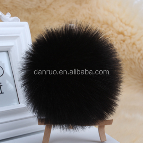 Imitation rabbit hair ball phone pendant imitation fox plush ball key chain bag jewelry multi - color plush
