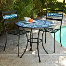 Best selling coral coast marina mosaic bistro set outdoor furniture