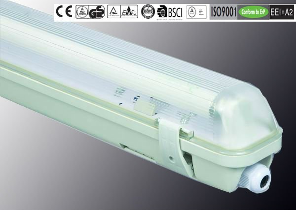 IP65 T8 18W/36W/58W ISO9001/CE/ROHS/GS/BSCI ul listed t5 fluorescent lighting fixture