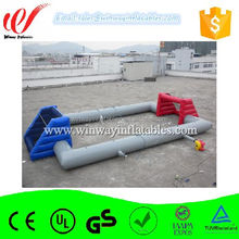 Customized size and color inflatable football pitch,inflatable football field,inflatable football goal W6095