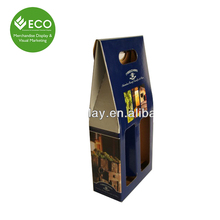 Two Bottle Paper Cardboard Wine Carriers Box