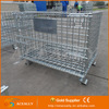 Warehouse Storage Collapsible Foldable Metal Steel wire cage wire mesh container
