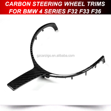 CARBON FIBER M SPORT STEERING WHEEL TRIM COVER FOR BMW F22 F30 F32
