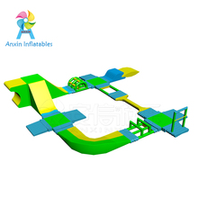 Indoor/outdoor Airflow huge inflatable water floating obstacle course on lake for rentals hire