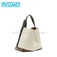 Tricolor Leather Hobo Bag