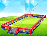 Inflatable football fields, giant inflatable playgrounds hot selling inflatable soap football field B6056