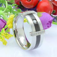 CZ Titanium Wedding Rings