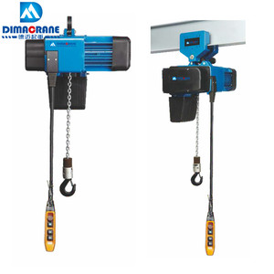 250 kg 500 kg 1 ton Demag style fixed type easy maintenance electric chain hoist in workshop