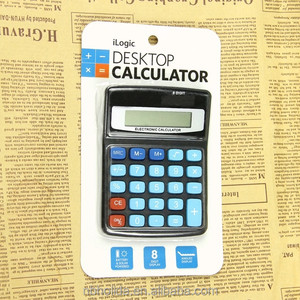 8 digit high school desktop electronic calculator general purpose solar power student calculator