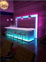 flare light DJ bar furniture cash counter, Wine shop use flash display cash desk, commercial furniture with light