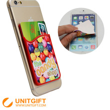 Personalized custom print mobile phone soft plastic card holder