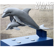Garden Stainless Steel Life Size Dolphin Sculpture
