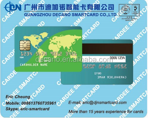 PVC Hotel key card with magnetic strip