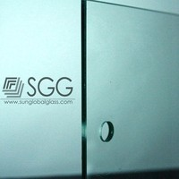 Sandblasting tempered used commercial glass windows door