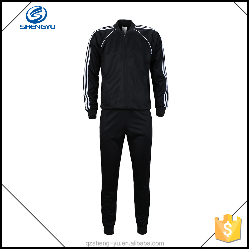 hot sale cheap custom plain velour tracksuit men