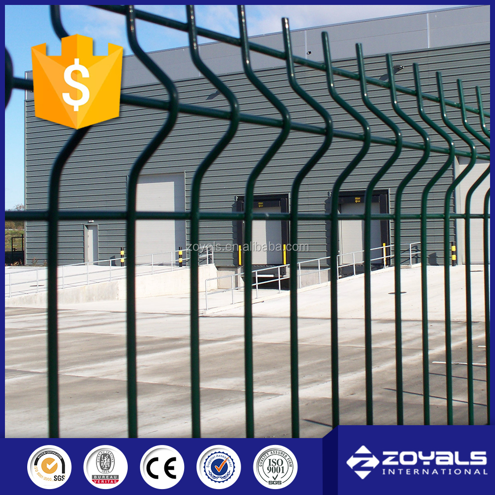 Manufacturer ISO9001 PVC Coated Welded Wire Mesh Fence/fencing