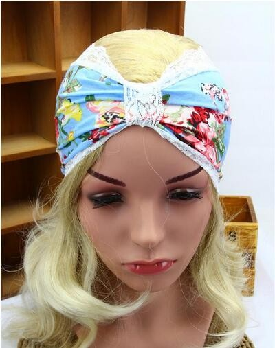 Women Embroidery Lace Boho Yoga Hair Band Bohemian Turban Head Wrap Headband New